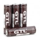 GTL 3.7V 2200mAh 18650 Li-ion Rechargeable Batteries - Brown + White (4 PCS)