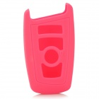 GEL011601 Silicone Car Key Case for BMW X1 X3 X5 X6 3 Series 5 Series 7 Series - Deep Pink
