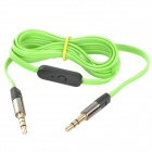 3.5mm Male to Male Earphone Connection Cable w/ MIC - Green (120cm)