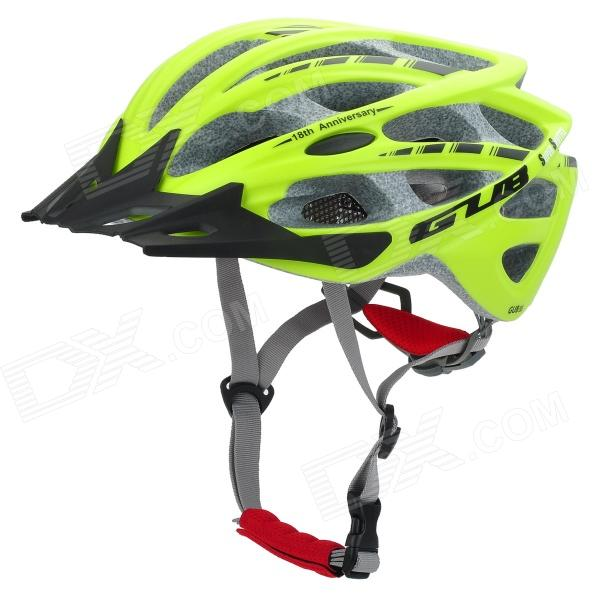 GUB Outdoor Cycling Shockproof EPU Bike / Motorcycle Helmet - Fluorescent Yellow + Black