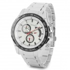 Zhongyi W824 Stylish Quartz Wrist Watch for Men - Silver + White (1 x 626)