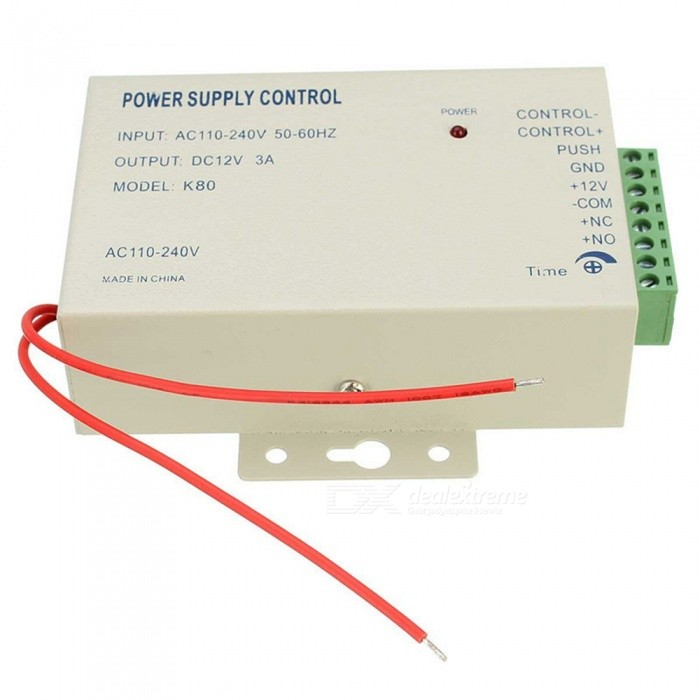 K80 12V 3A Power Supply Control for Door Access System - White