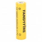 FANDYFIRE 3.7V 1100mAh Rechargeable Li-ion 18650 Battery - Yellow