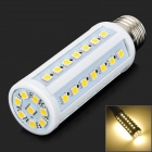 E27 9W 130lm 3500K 50-5050 SMD LED Warm White Light Bulb - White (AC 220~240V)