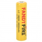 FANDYFIRE 3.7V 2000mAh Rechargeable Li-ion 18650 Battery - Yellow