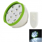EUPEK M6 E27 3W 200lm 10-5050 SMD LED Cool White Light Emergency Lamp - Green (AC 100~240V)