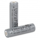 UltraFire 3.7V 500mAh Rechargeable Li-ion 14500 Battery - Dark Grey (2 PCS)