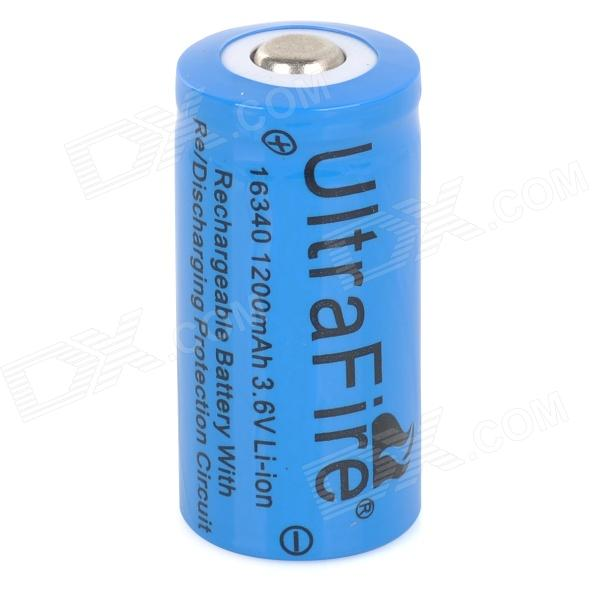 UltraFire 3.6V 900mAh Rechargeable Li-ion 16340 Battery - Blue 3 6v 2400mah rechargeable battery pack for psp 3000 2000