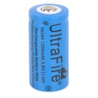 UltraFire 3.6V 900mAh Rechargeable Li-ion 16340 Battery - Blue