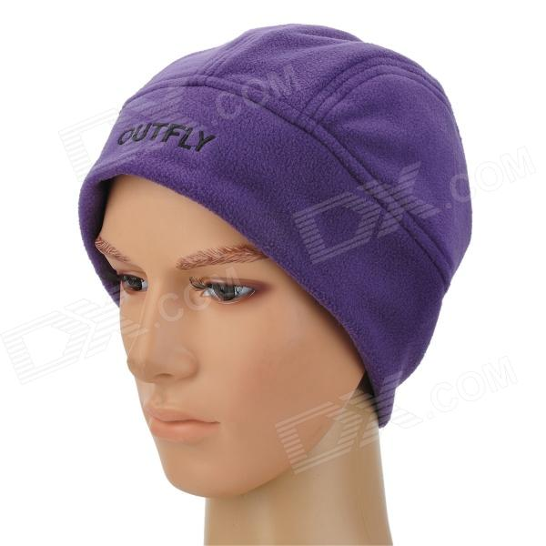 OUTFLY B11138 Women's Comfortable Warm Fleece Cycling Cap Hat - Purple