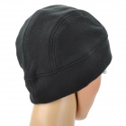 OUTFLY Men's Comfortable Warm Fleece Cycling Cap Hat - Black