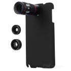 Buy 4-in-1 10X Telescope + Fisheye Macro Wide Angle Lens Set Samsung Galaxy Note 3 - Black