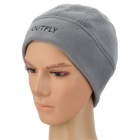 OUTFLY B11138 Men's Comfortable Warm Fleece Cycling Cap Hat - Grey