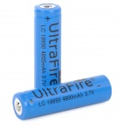 UltraFire 3.7V 1000mAh Rechargeable Li-ion 18650 Battery - Blue (2 PCS)