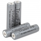 TRUSTFIRE 2400mAh Rechargeable Li-ion 18650 Battery w/ Protective IC - Black + Grey (4 PCS)
