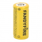 FANDYFIRE 3.7V 800mAh Rechargeable Li-ion 16340 Battery - Yellow