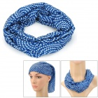 MAKALU 178 Cycling Polyester Fiber Headscarf - White + Blue