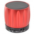 S13 Portable Bluetooth Speaker w/ Mic / Handsfree Call - Red + Black