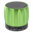 S13 Portable Bluetooth Speaker w/ Mic / Handsfree Call - Green + Black