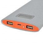 Buccker T6 5V '' 12000mAh'' Li-ion Polymer makt Bank for mobiltelefoner / IPAD / PSP / MP3 + mer - grå