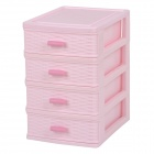 R252C Convenient Mini 4-deck PP Organizer Case - Pink