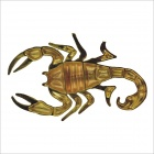3D Cool ABS Scorpion Style Car Decorative Stickers - Gold (Pair)