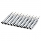 Bangye BY900M Lead-free Sharp Point Welding Soldering Tip - Silvery White (10 PCS)