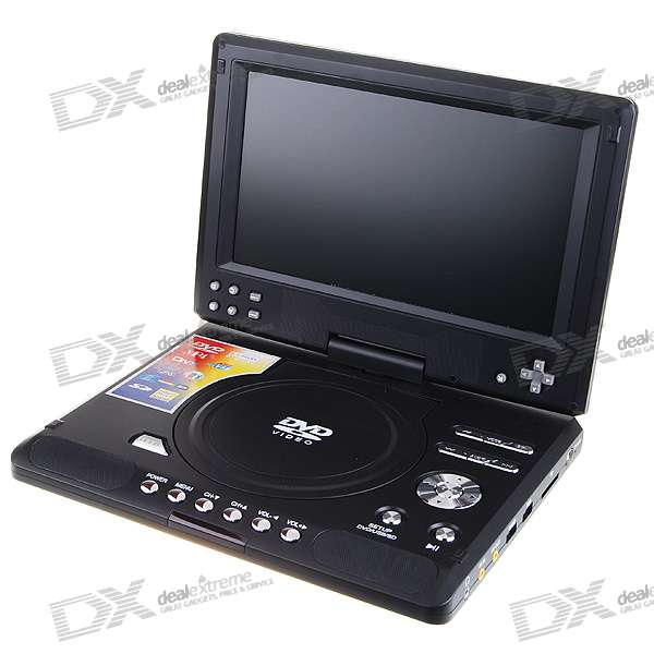 "9"" TFT LCD Portable DVD Media Player with Game and TV Tuner (PAL/NTSC/SECAM)"