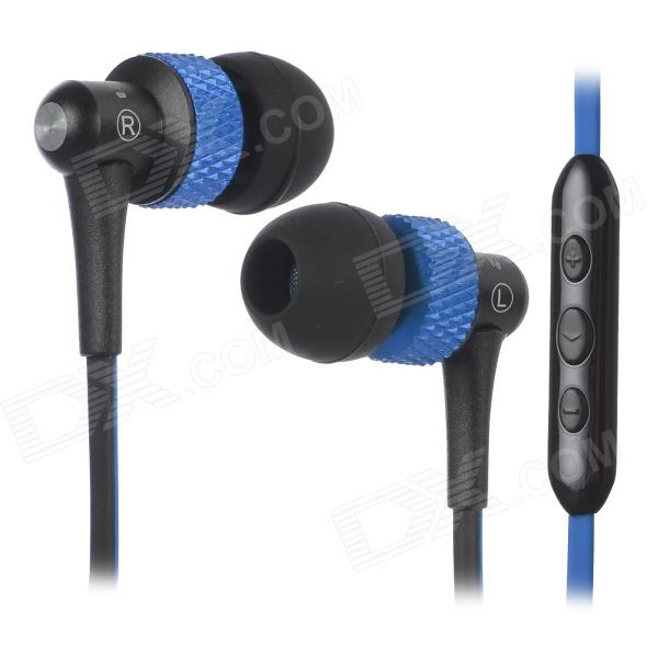 AWEI S40Vi 3.5mm In-Ear Earphone w/ Microphone / Remote - Deep Blue + Black стоимость