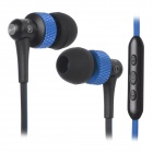AWEI S40Vi 3.5mm In-Ear Earphone w/ Microphone / Remote - Deep Blue + Black