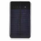 Universell Dual USB 5V '' 10000mAh '' Solar Powered Strøm Bank - Svart