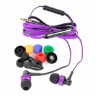 AWEI S40Vi TPE 3.5mm In-Ear Earphone w/ Mic / Remote for IPHONE / HTC + More - Purple + Black