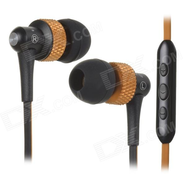 цена на AWEI S40Vi TPE 3.5mm In-Ear Earphone w/ Mic / Remote for IPHONE / HTC + More - Orange + Black