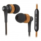 AWEI S40Vi TPE 3.5mm In-Ear Earphone w/ Mic / Remote for IPHONE / HTC + More - Orange + Black