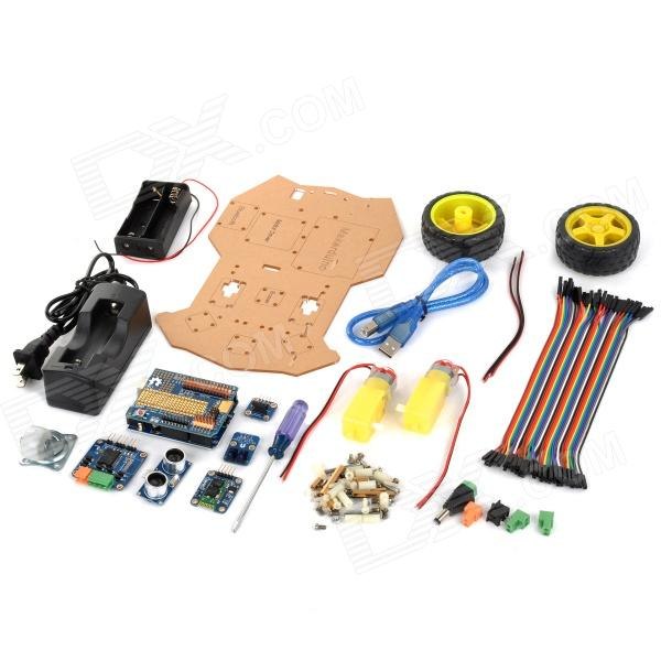 купить Maker Studio AK0100010M Bluetooth Control Obstacle Avoidance Smart Car Set for Arduino недорого