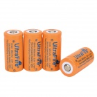 UltraFire 16340 Li-ion 16340 3.7V 800mAh Rechargeable Battery - Orange + Purple (4 PCS)