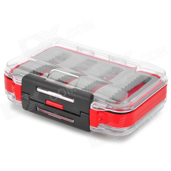 Dual-opening Fishing Tool Box - Red + Grey