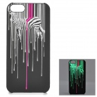 KWEN CC-1 Stylish Glow-in-the-dark Zebra Pattern PC Back Case for IPHONE 5 / 5S - Multicolored