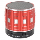 S32 Portable 3W Bluetooth V2.0 Speaker w/ Mic / Mini USB / TF - Red + Black