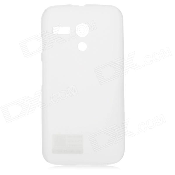 PUDINI WB-MOTOG Protective PC Back Case for MOTO G - White pudini wb ip5c protective pc back case for iphone 5c translucent white