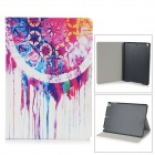Protective PU Leather Case Cover Stand w/ Auto Sleep for IPAD 4 - Multicolored