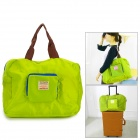 Casual Foldable Travel Nylon Tote Bag - Green + Black + Multi-Colored