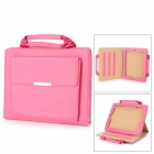 Handheld Protective PU Leather Case Cover Stand for IPAD - Pink