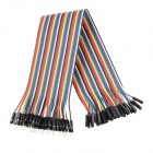 PVC Male to Female Arduino DuPont Cables - Multicolored (30cm)