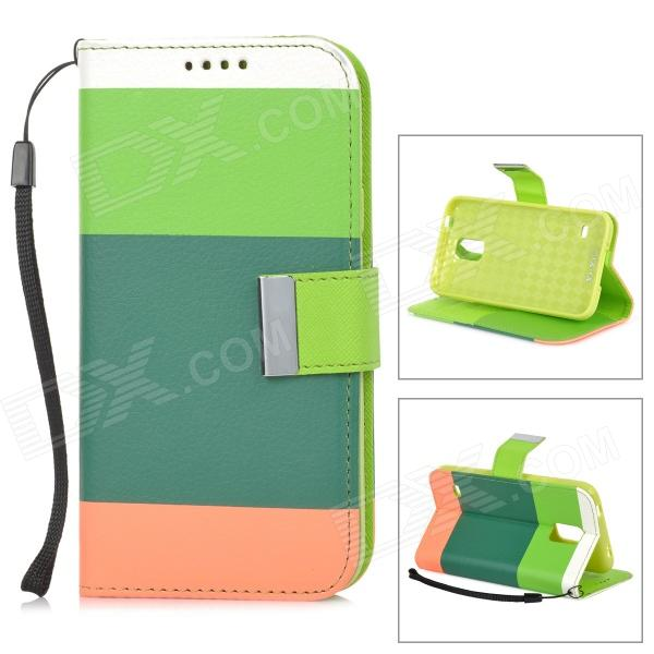 High Quality PU Leather Flip Open Case w/ Stand / Card Slots / Strap for Samsung Galaxy S5 protective flip open pu case w stand card slots strap for samsung galaxy note 3 n9000 white