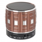 S32 Portable 3W Bluetooth V2.0 Speaker w/ Mic / Mini USB / TF - Brown + Black