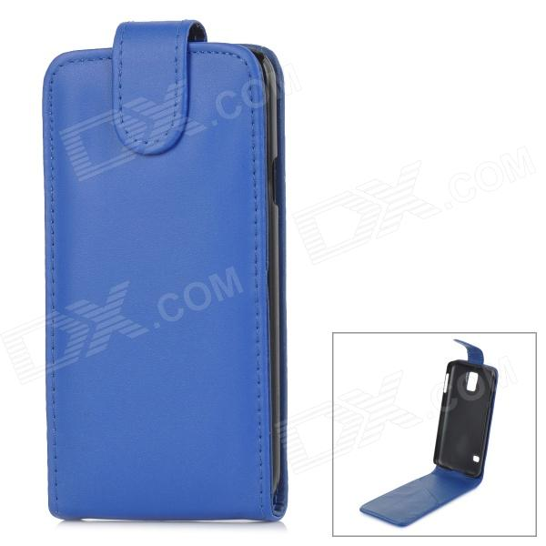 High Quality Protective Top Flip Open PU Leather Case w/ Card Slot for Samsung Galaxy S5 - Blue one piece 1x brand new high quality silicon protective skin case cover for xbox 360 remote controller blue green mix color