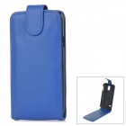 High Quality Protective Top Flip Open PU Leather Case w/ Card Slot for Samsung Galaxy S5 - Blue