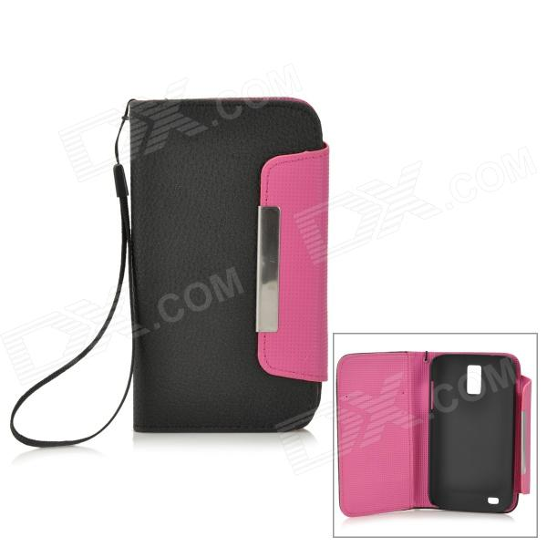 Protective PU Leather Magnet Case w/ Card Slot for Samsung Galaxy S2 T989