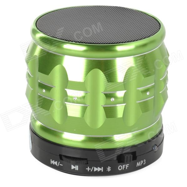 S30 Portable 3W Bluetooth V2.1 Speaker w/ Mic / Mini USB / TF - Green